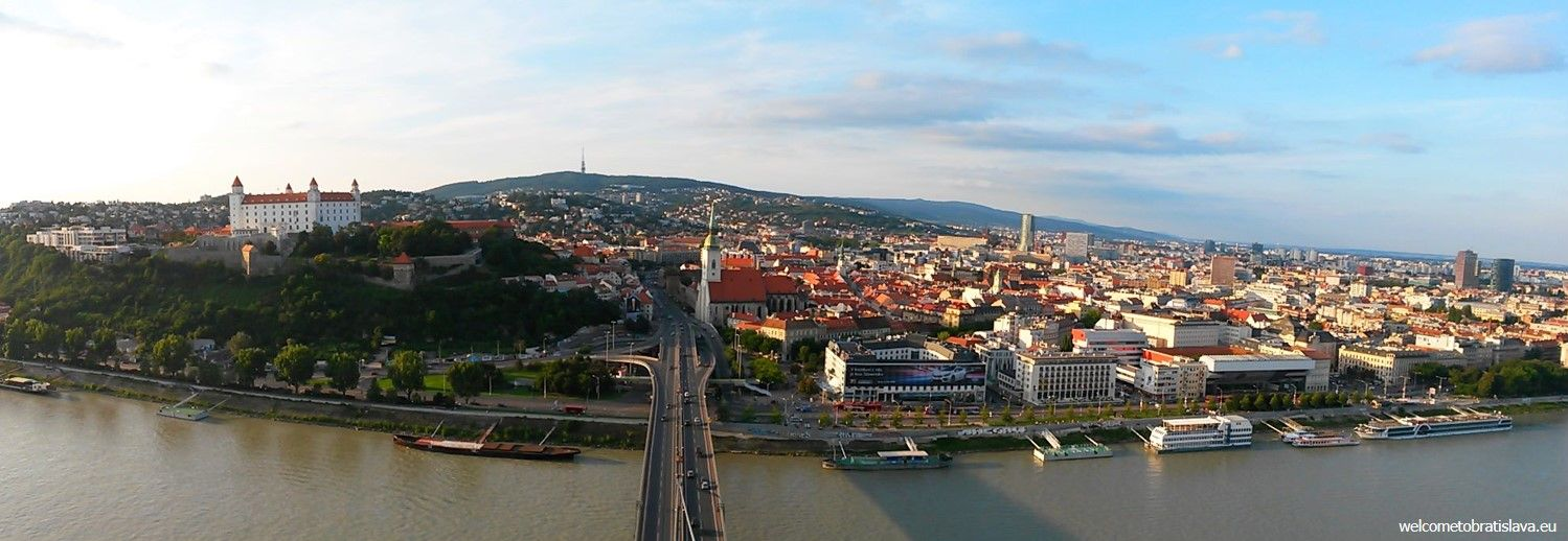 View on Bratislava from the UFO tower