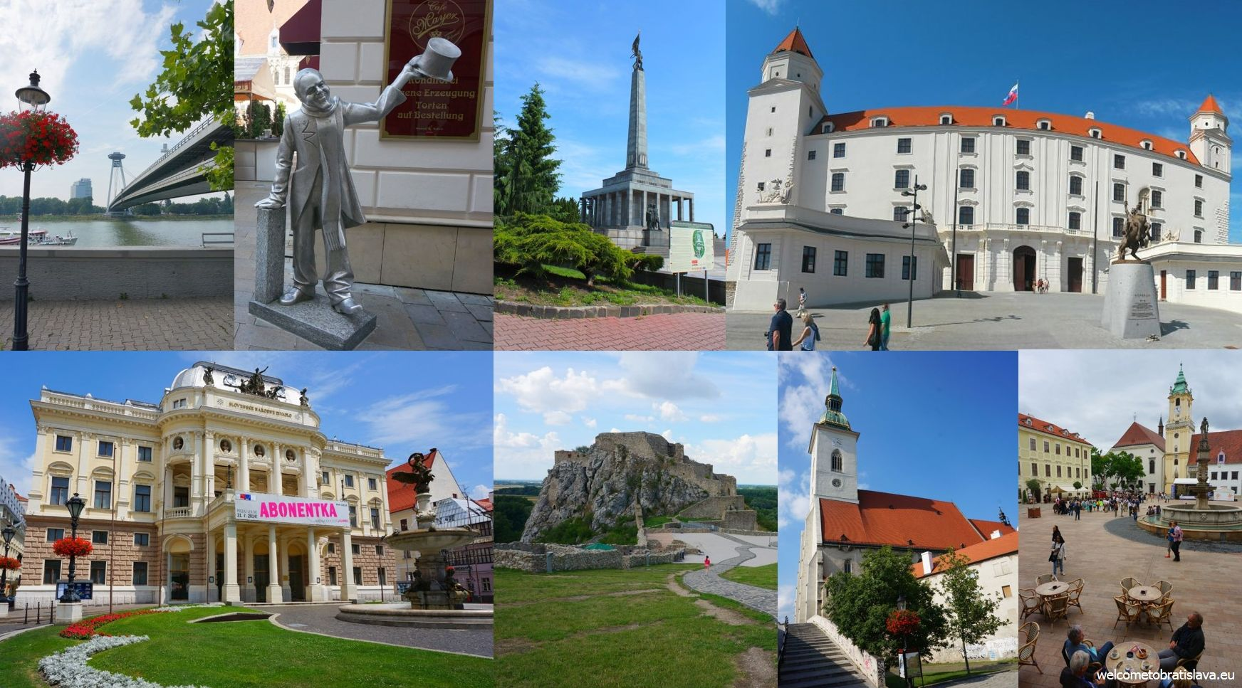 Sightseeing in Bratislava: main attractions