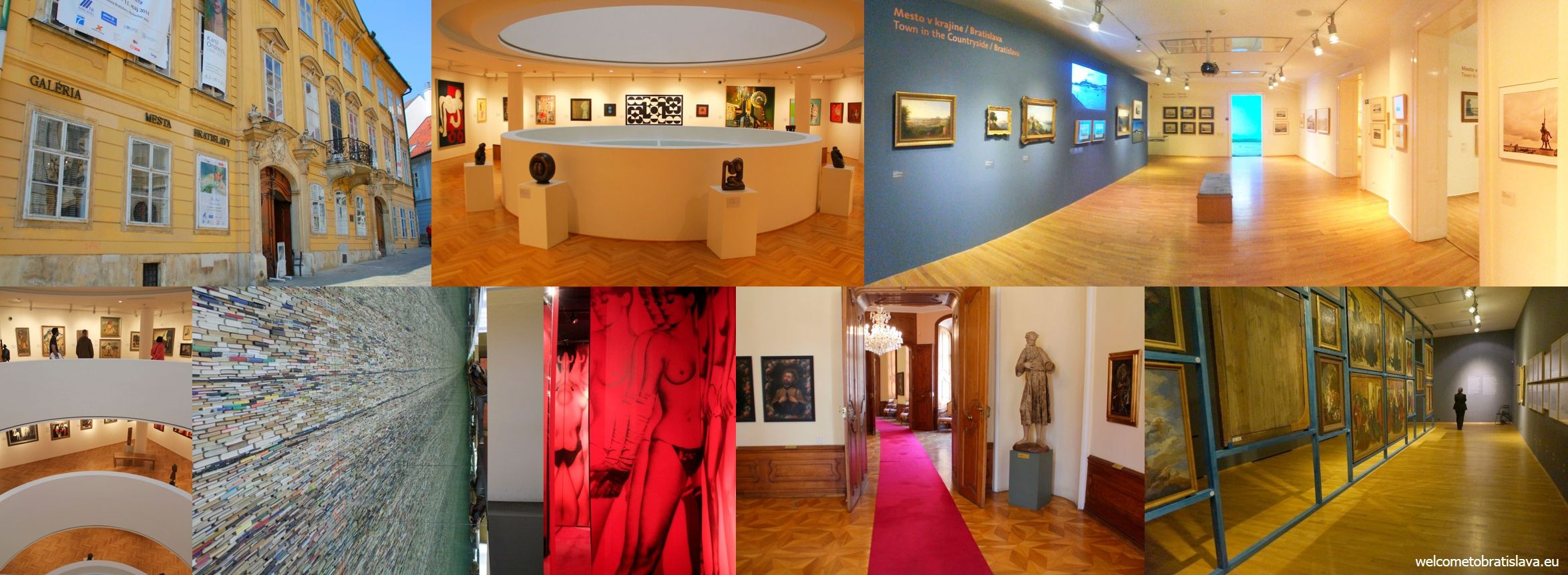Sightseeing in Bratislava: galleries