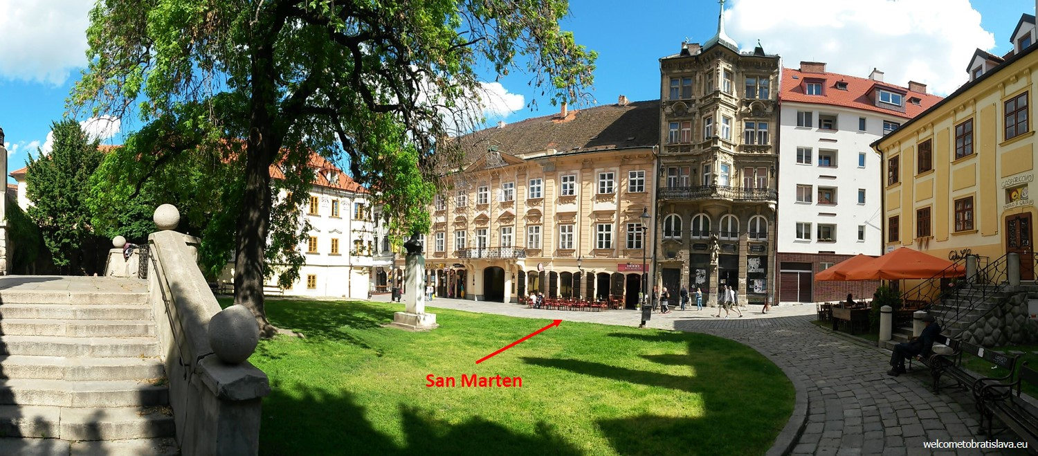 San Marten can be found in one of Bratislava´s historical buildings in the city center