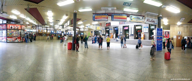 The main train station in Bratislava
