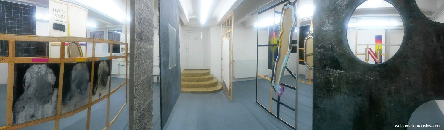 The room in the back of the courtyard hosts exhibitions as well