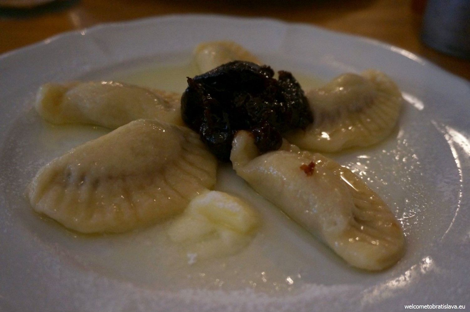 Dumplings filled with chestnut puree
