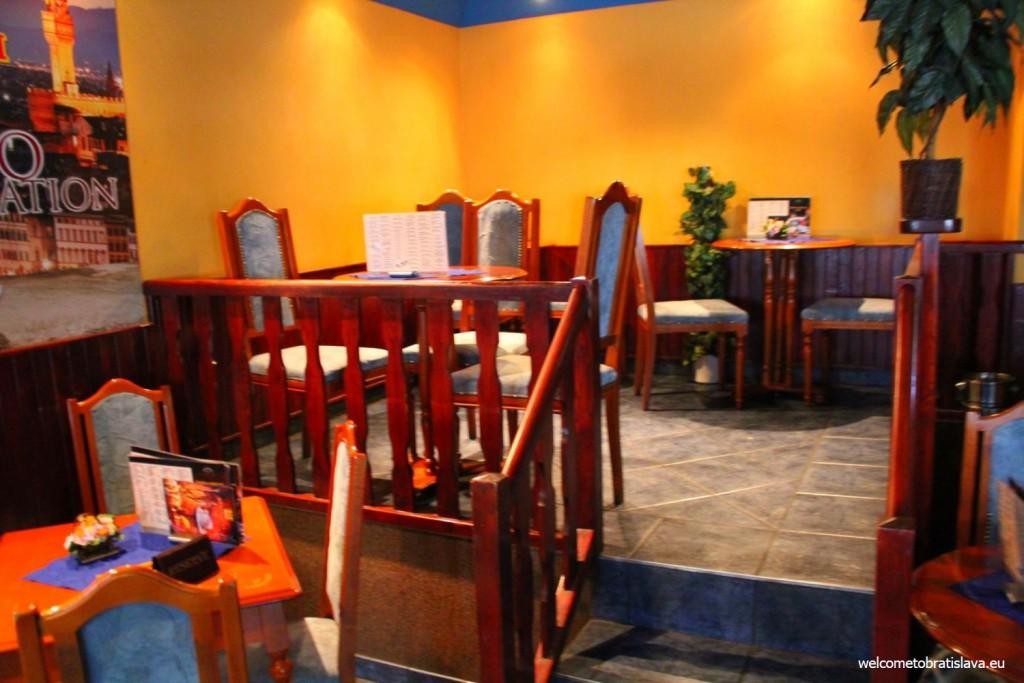 Interior of Viktoria cafe