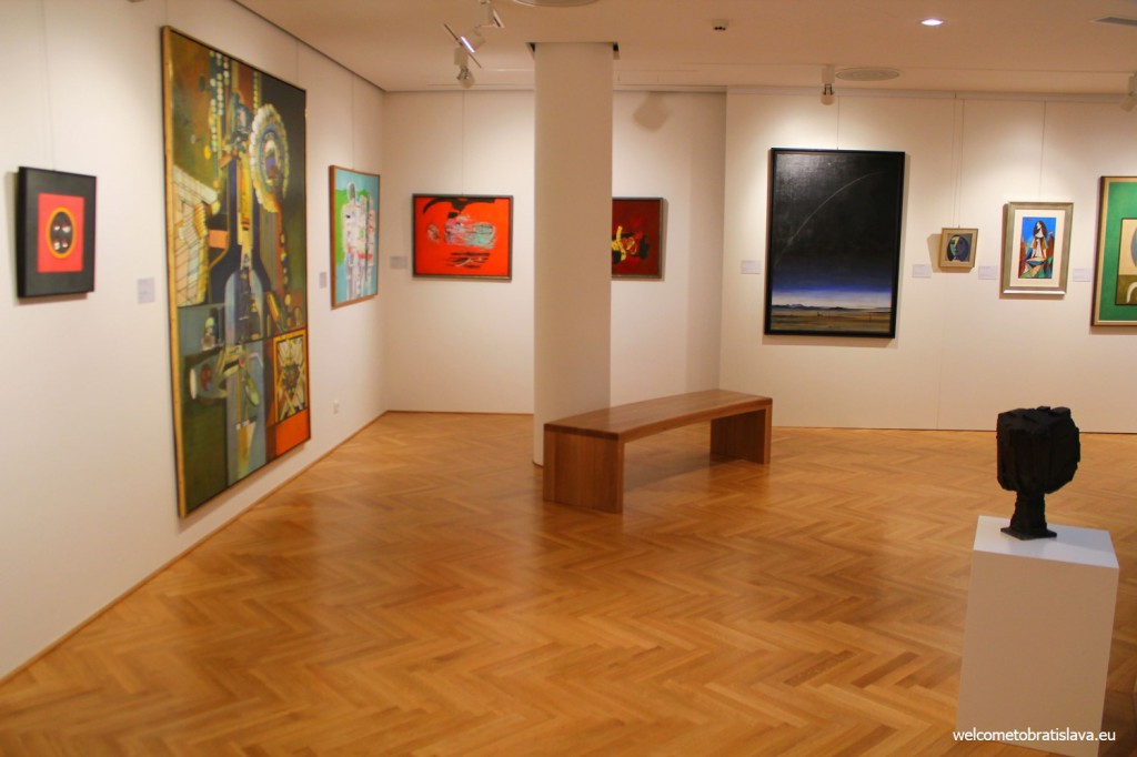 The gallery displays works from prominent artists