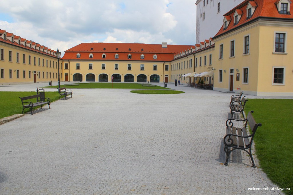Hradna Hviezda is located on the courtyard of the castle