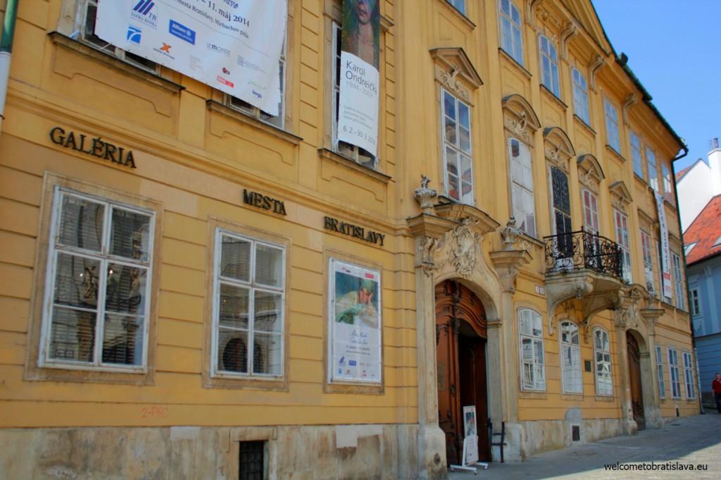 Mirbach Palace is located at the Františkánske námestie 11