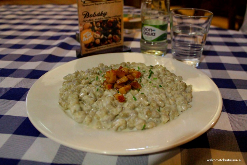 Flag Ship: bryndzove halusky, the Slovak traditional meal