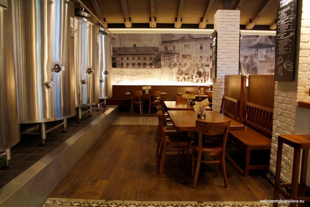 Mestiansky pivovar: interior
