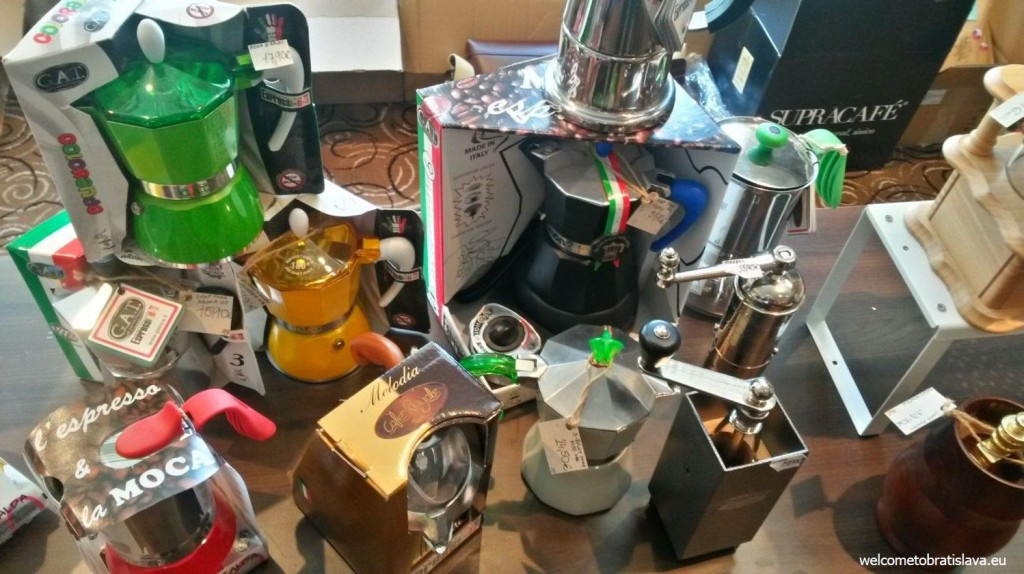 Colourful coffee makers