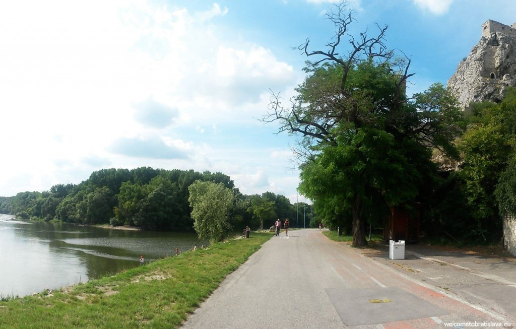 Walking along the Danube bank