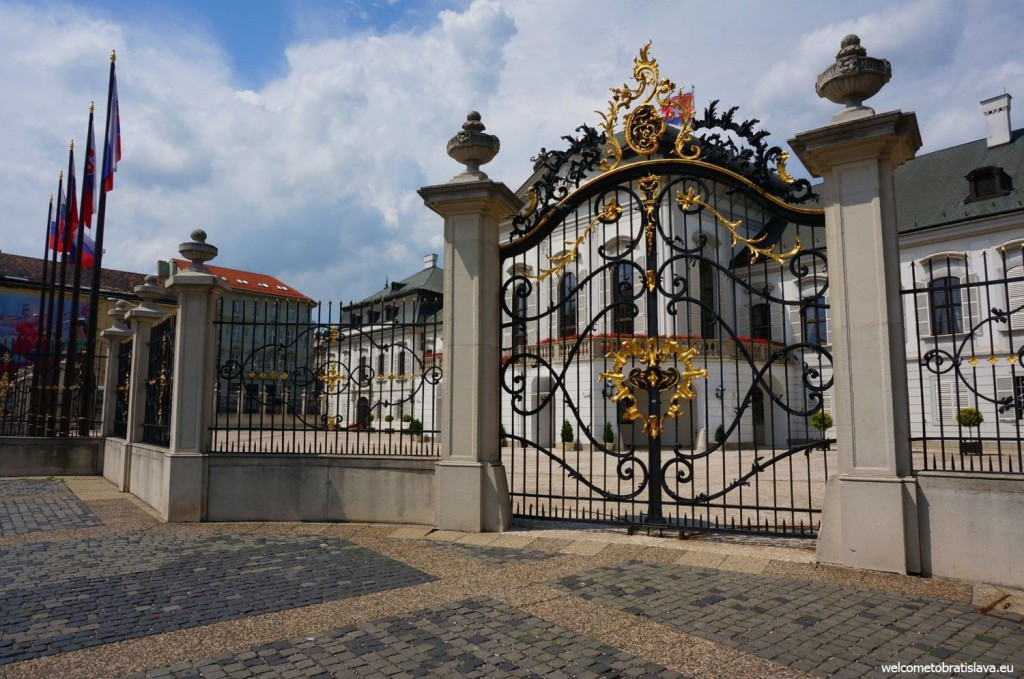 The main gate of the Grassalkovich palace