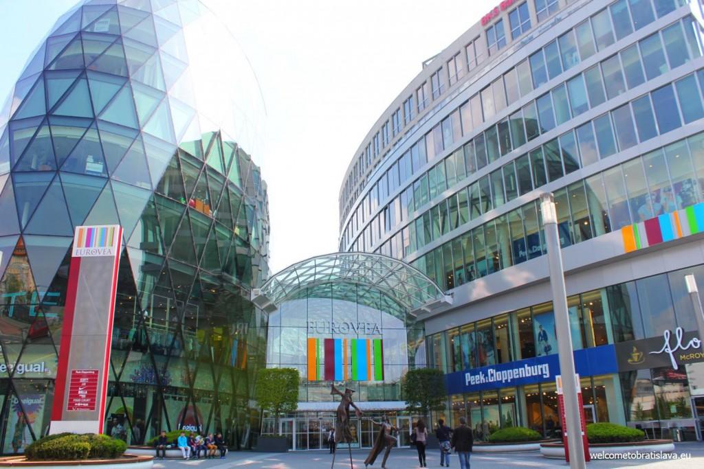 Eurovea Gallery: the main entrance