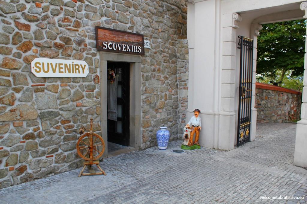 Souvenir shop near the Castle