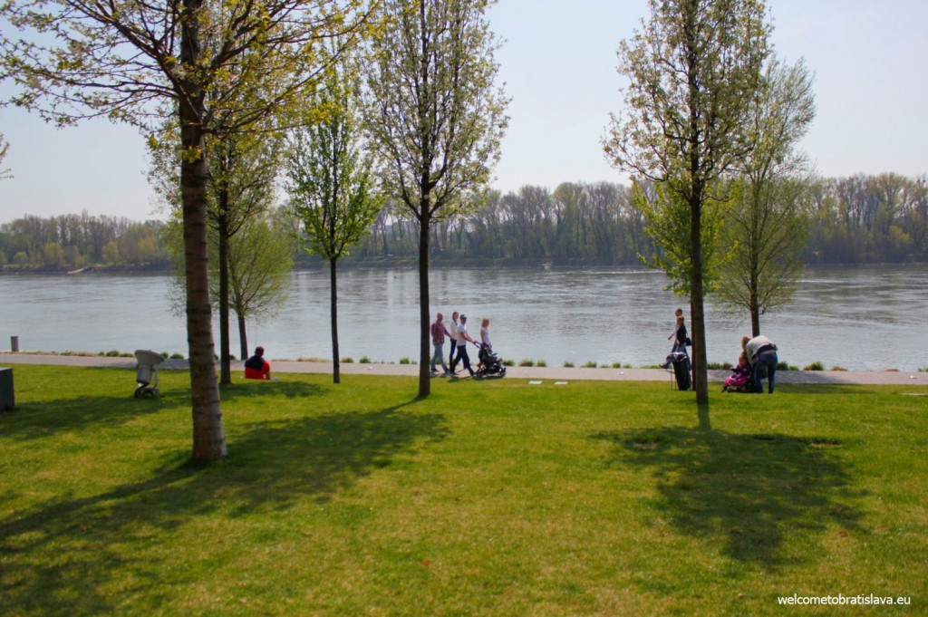 Eurovea is an ideal place for walking and leisure time activities