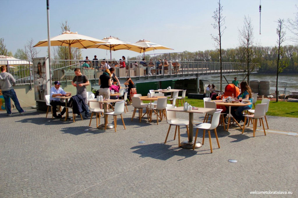 All the restaurants have terraces open in the summer