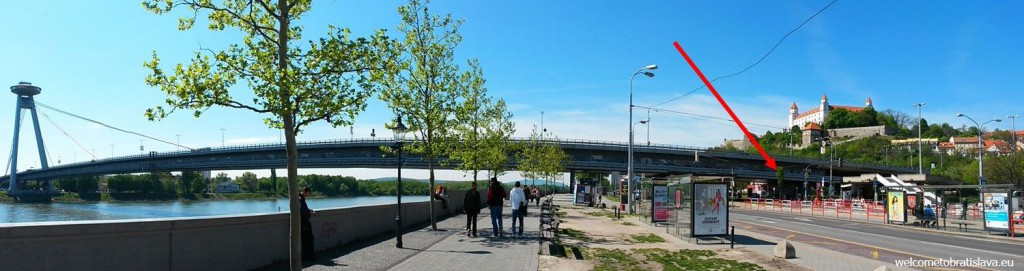 The easiest and quickest way is to take a bus from the stop at the UFO bridge