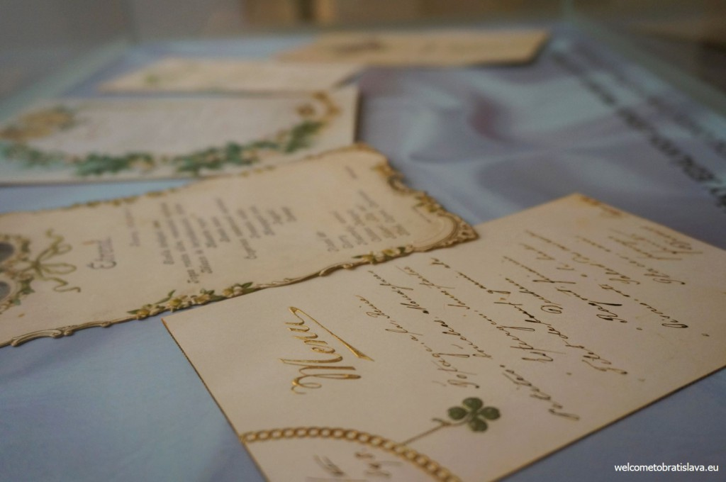 Examples of the menu cards from the turn of 19th and 20th century
