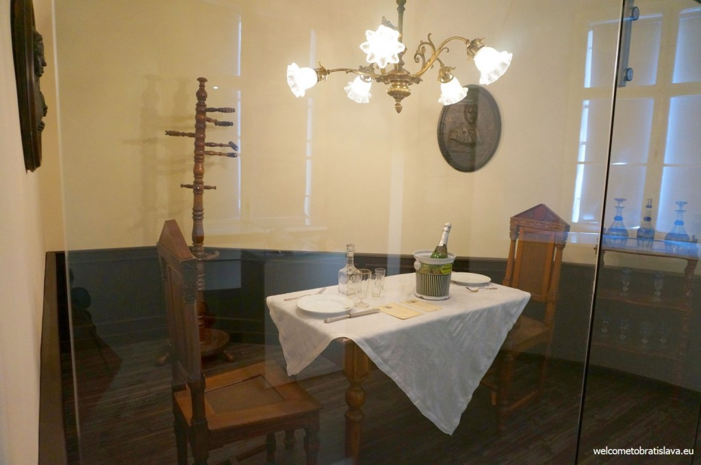 Example of a laid dining table