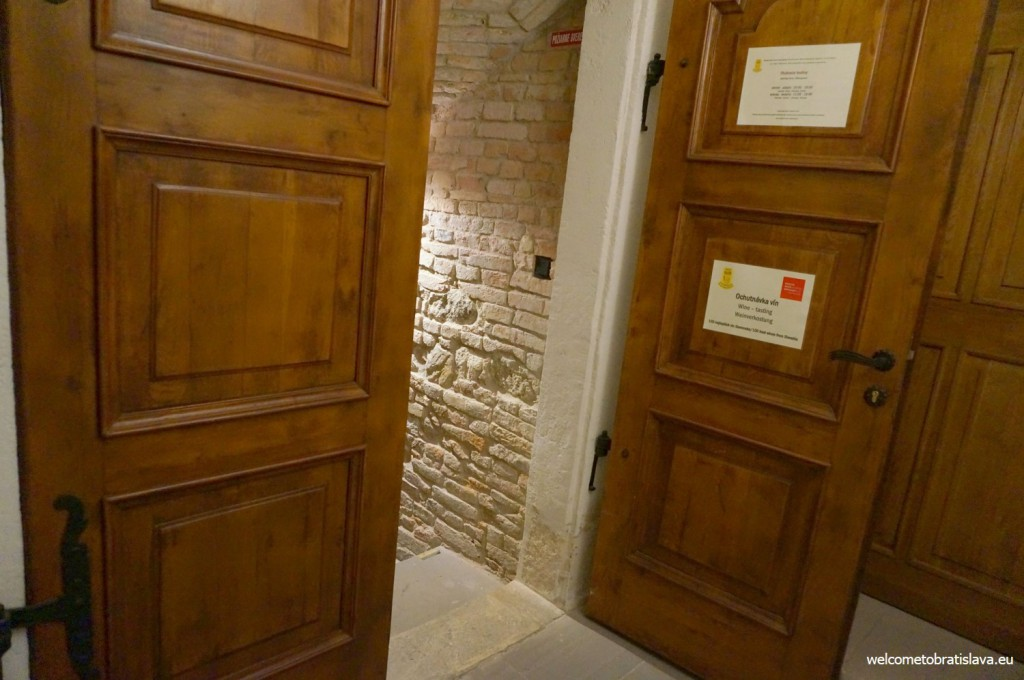 This big wooder door leads to the basement - the second part of the exhibition