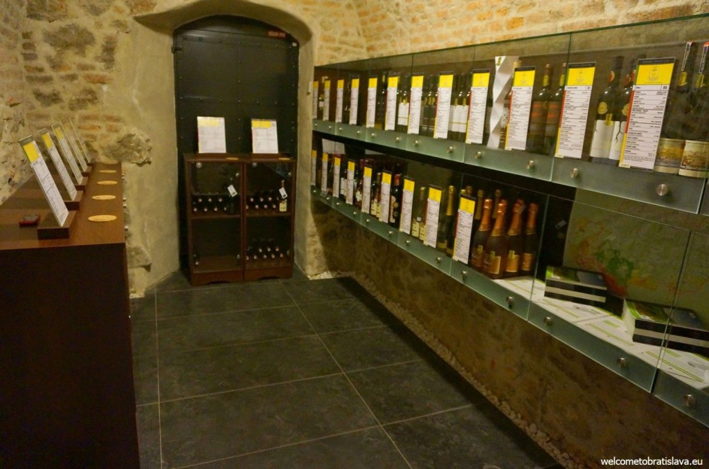 There are also bottles of wine to purchase