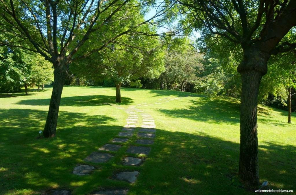 One of the sidewalks