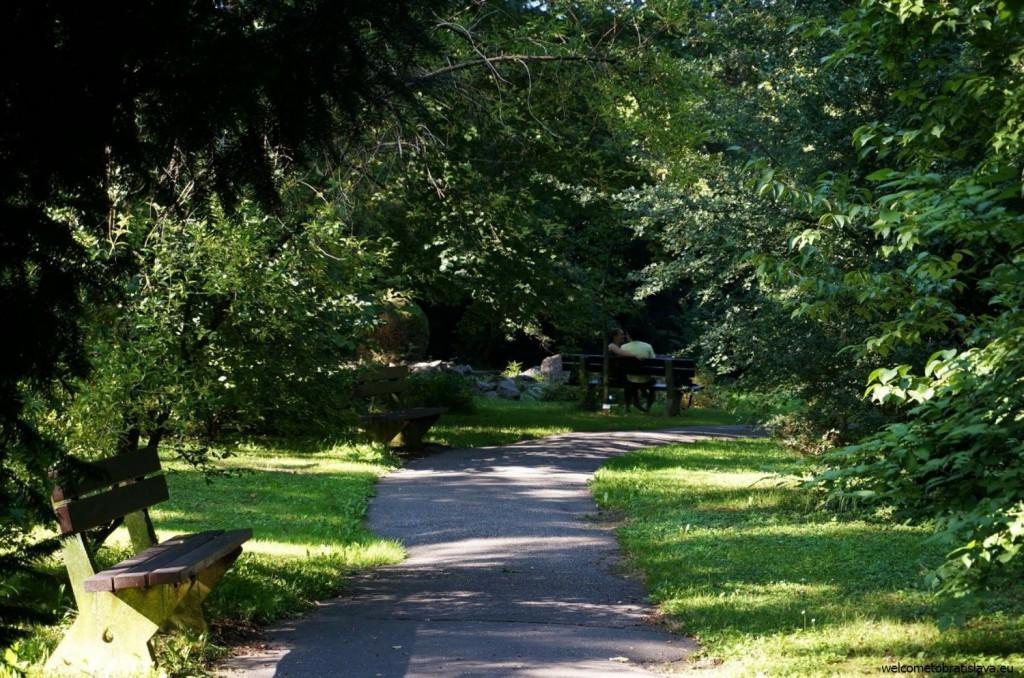 Couples are often seen in the Botanic garden