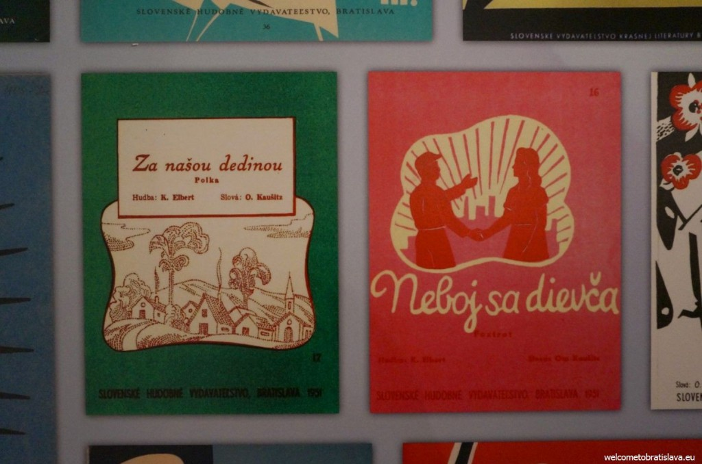 The samples of printed editions of songs