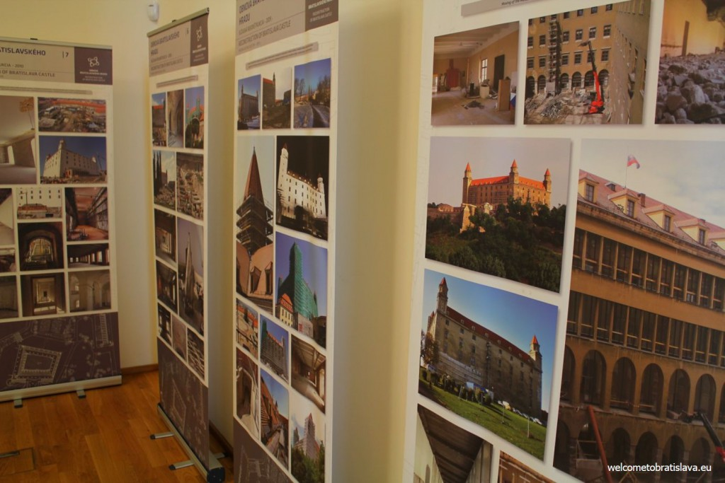 Pictures which display the reconstruction works on the castle since 2008
