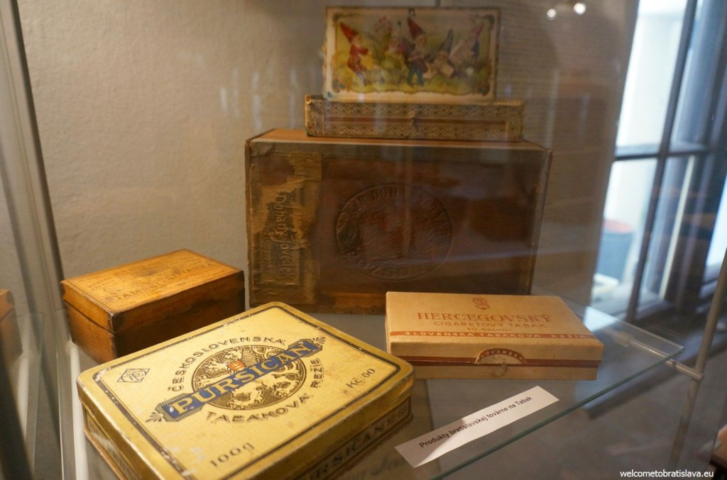 Products of one Bratislava tobacco factory