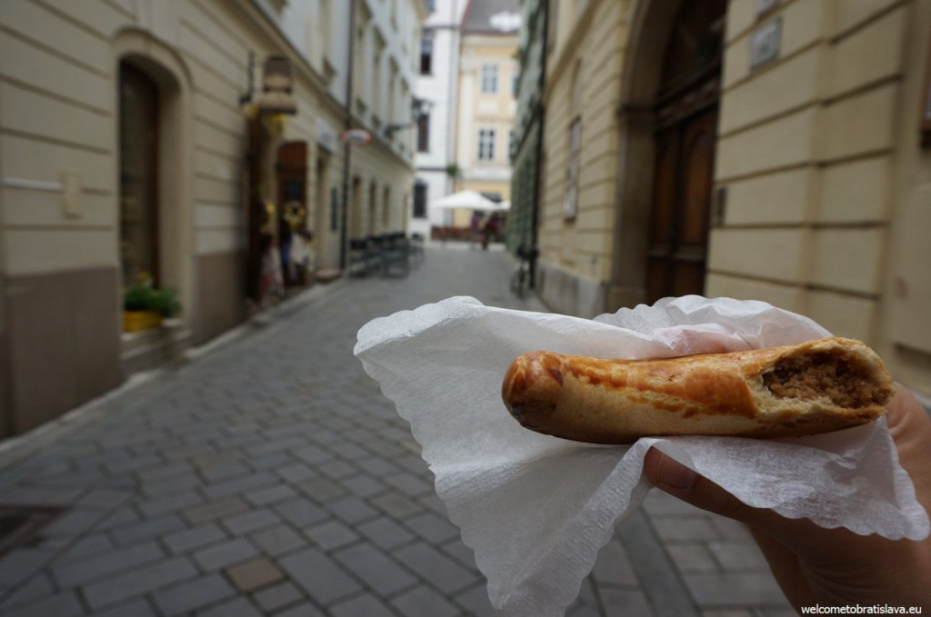 The original local pastry - Bratislava roll with crashed nuts filling