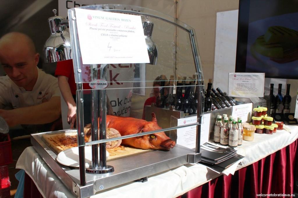 Slovak Food Festival: A roasted pig
