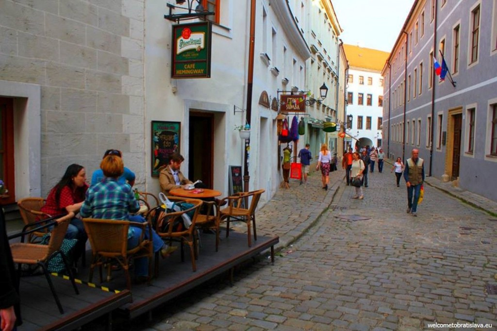 One of the narrow streets of Bratislava Old Town