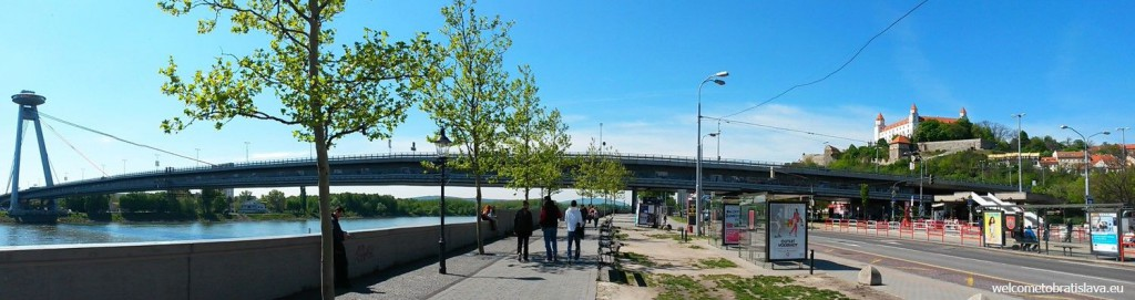 The easiest way to get there is to walk from the New Bridge