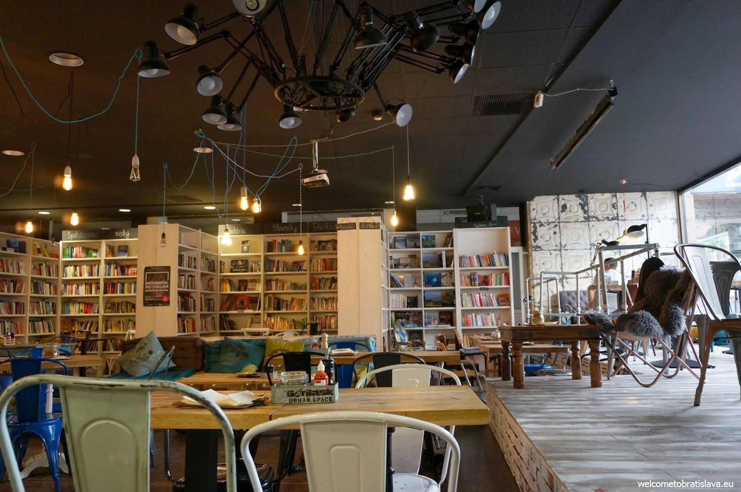 Urban Space actually serves as a book store