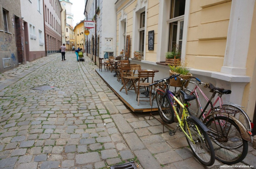 Bratislava has many small cute streets with hidden cafes