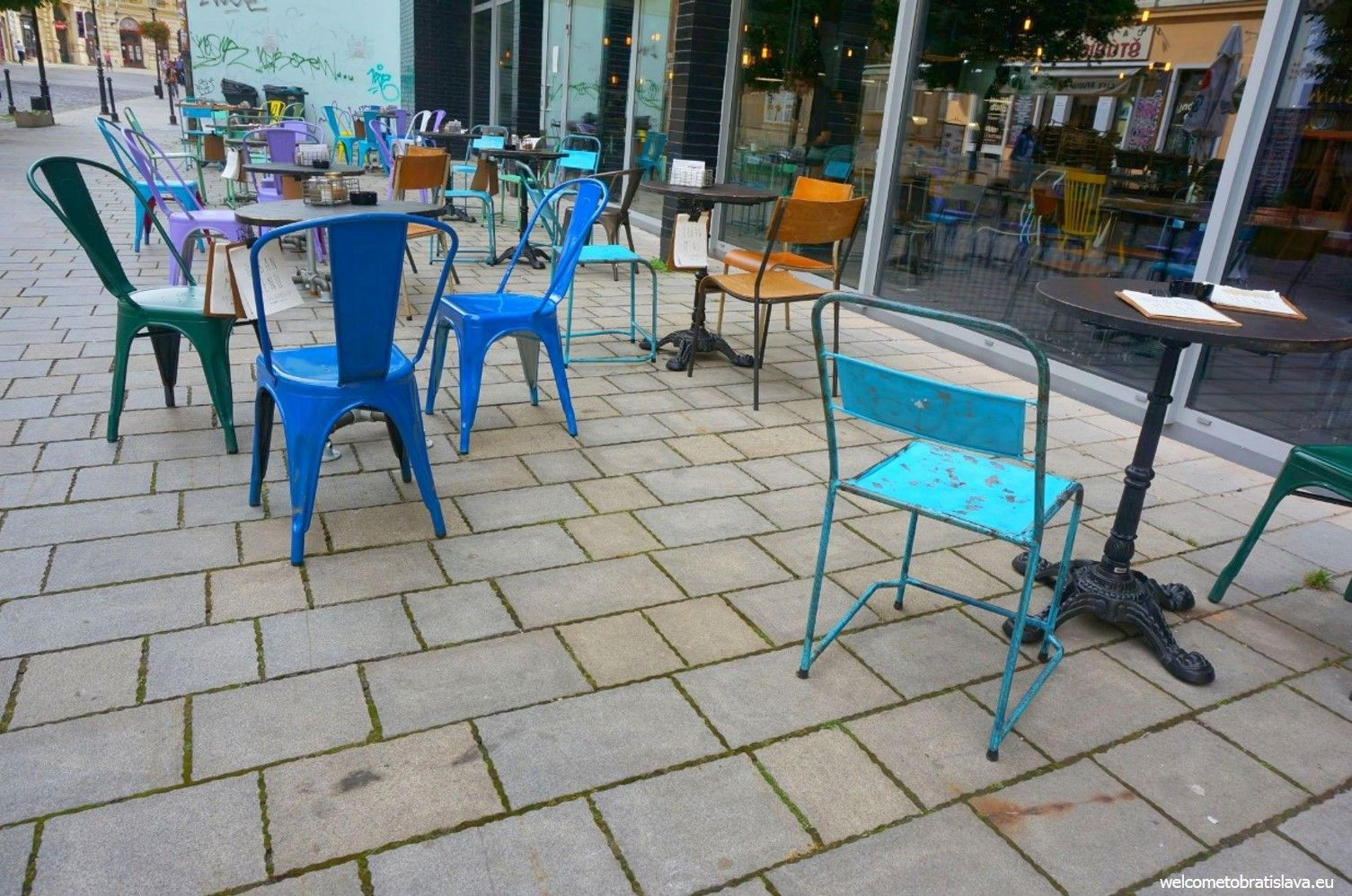 If you look for Urban House, search for the colorful retro chairs
