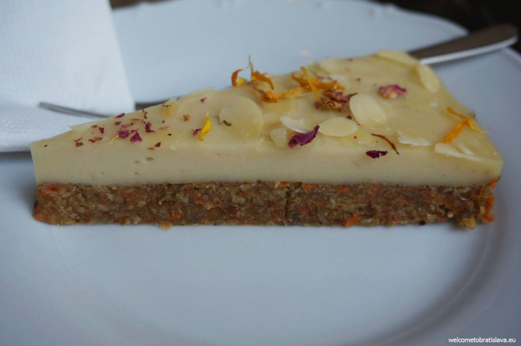 St. Germain: carrot & almond raw cake