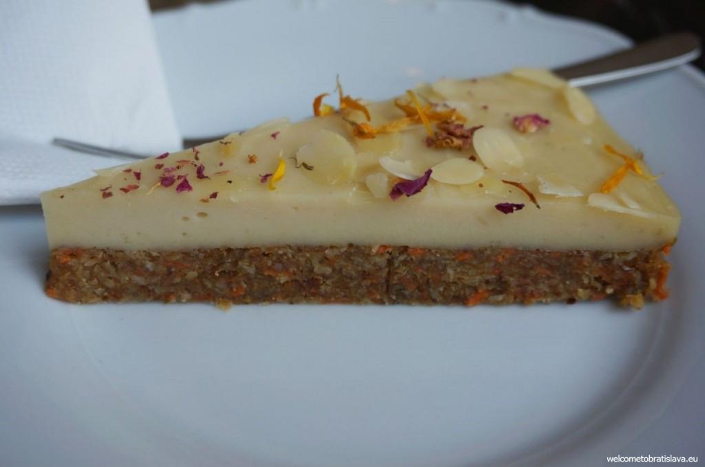St. Germain: carrot & almond raw cake