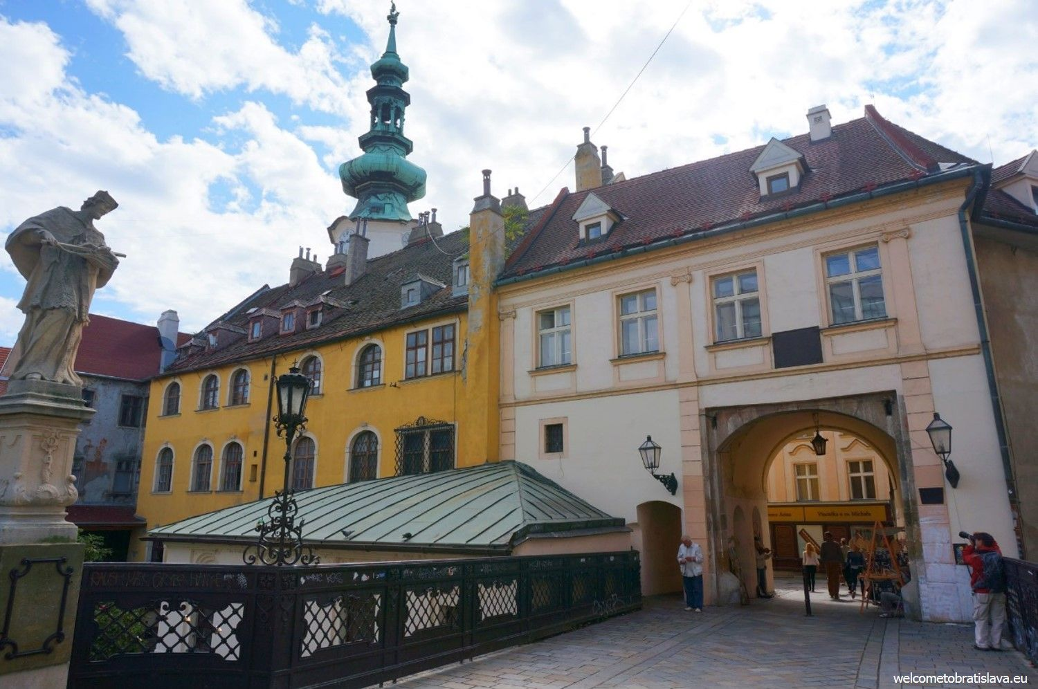 Michael's gate and tower - the entrance to Bratislava's Old Town