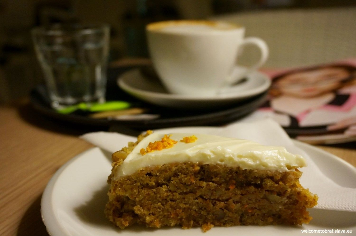 Their carrot cake with lemon icing is fabulous!