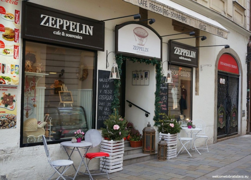 Zeppelin cafe can be found right next to the Main square