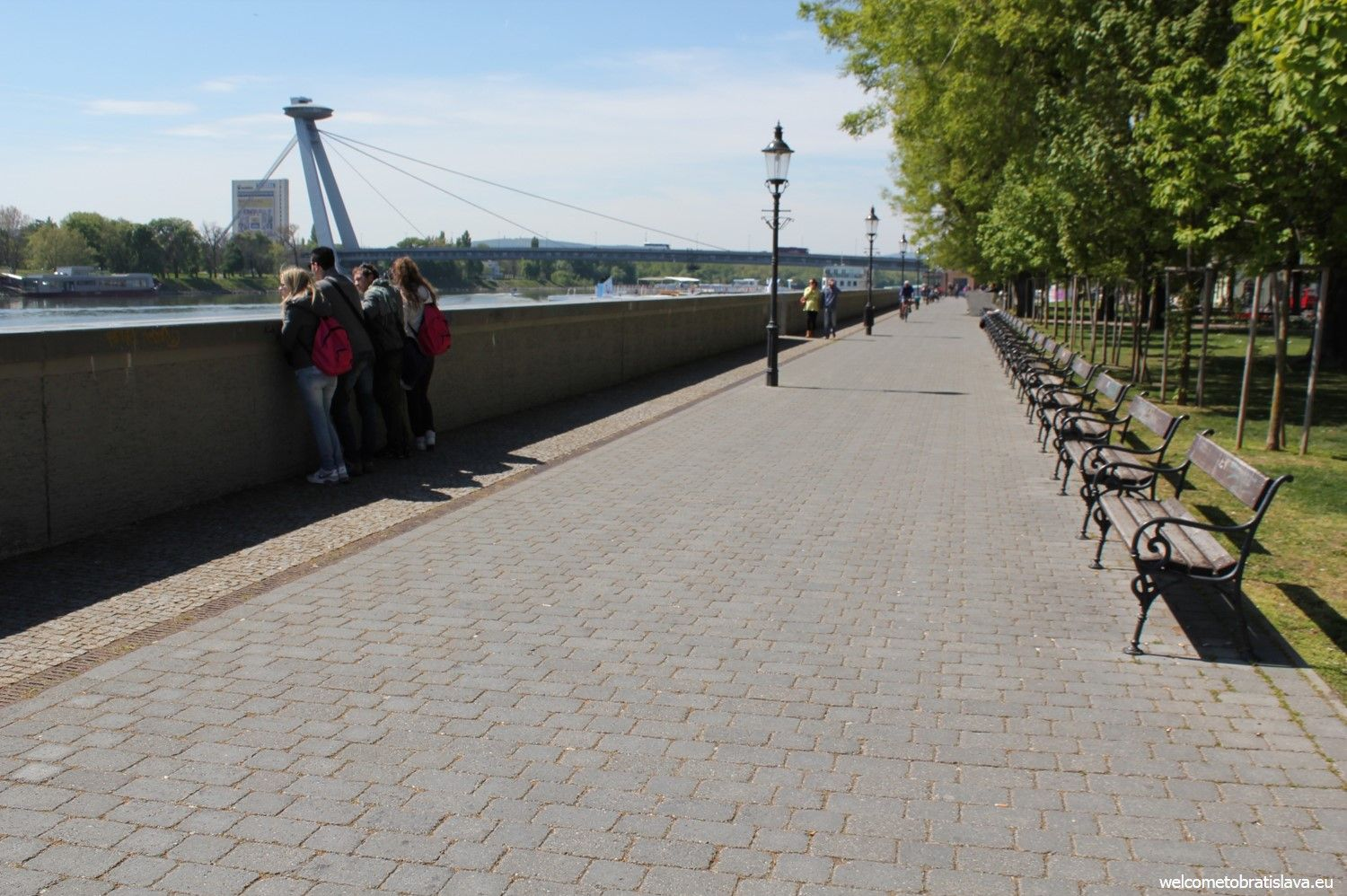 The path along the Danube