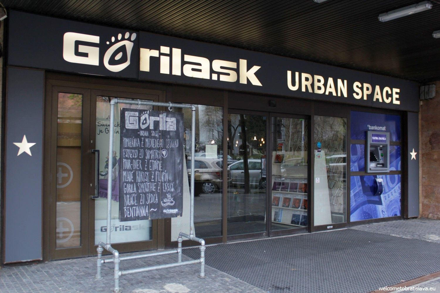 Main entrance to the Urban Space at Namestie SNP