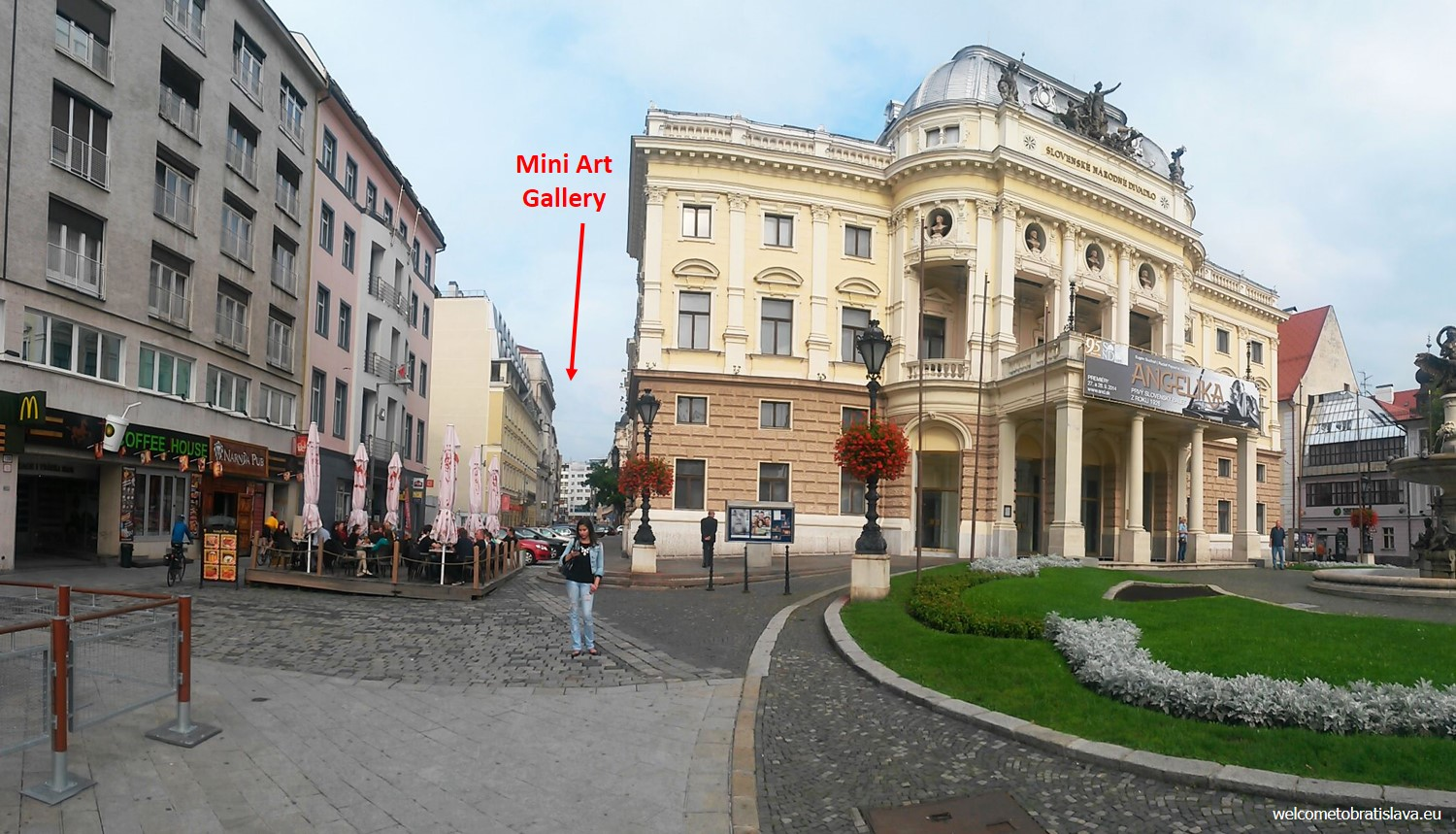 Mini Art Gallery can be found in a small street right next to the Slovak National Theater