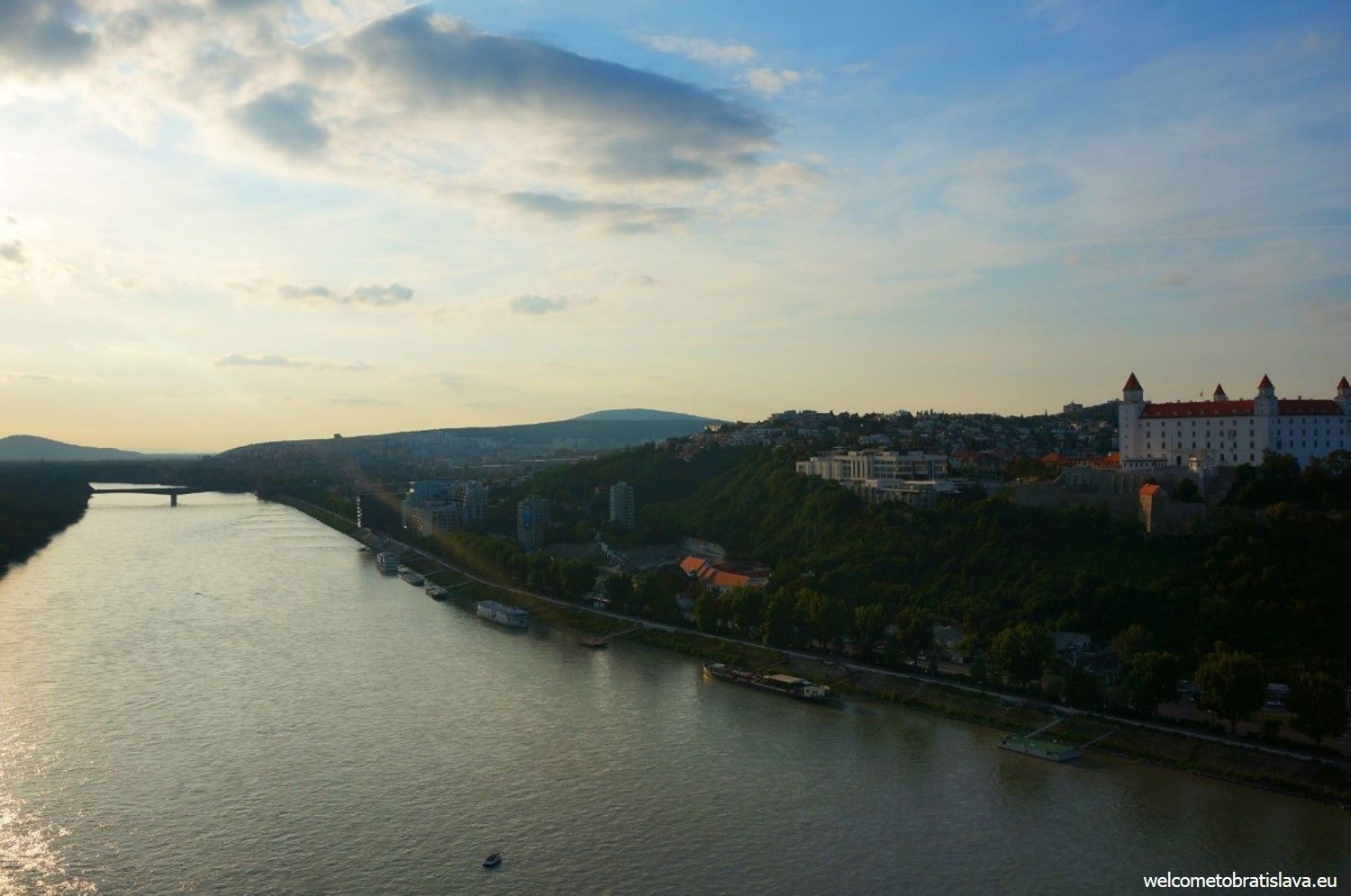 Sun set over the Danube - view from the UFO tower