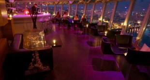 UFO bar & restaurant: interior by night
