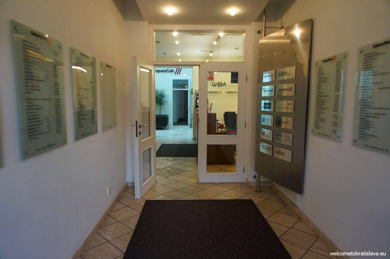 Walking in, you will feel like entering an office building