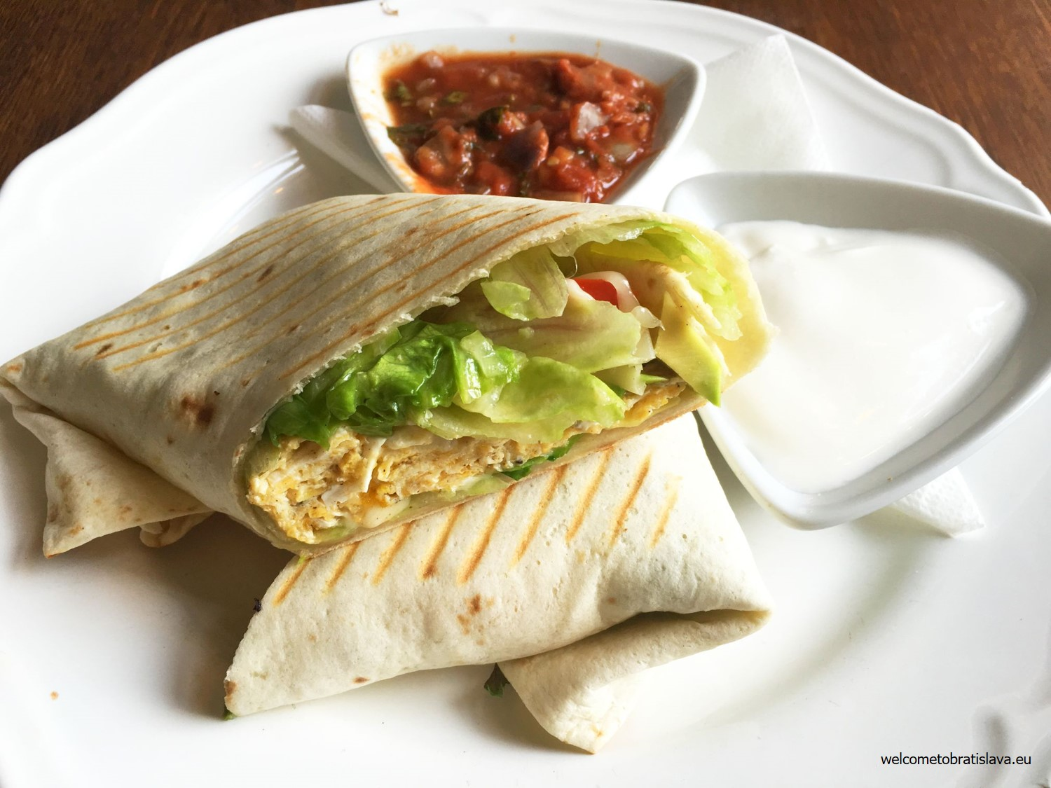 Wrap with salsa