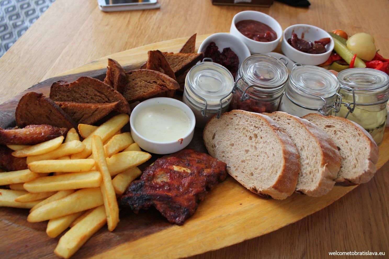 A selection of meats, spreads and pates from the Slovak cuisine :)